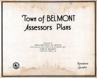 Title Page, Belmont Assessor Plans 1931